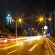 Traffic in city at night — Stock Photo #33384107