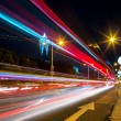 Foto de Stock  : Traffic in city at night