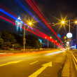 Traffic in city at night — Stock Photo #33388091