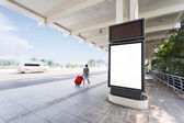 Billboard in the station — Stock Photo