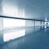 Interior of airport waiting room — Stock Photo