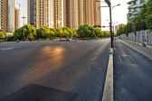 Empty street in modern city — Foto Stock