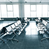 Waiting room in the airport — Stock Photo