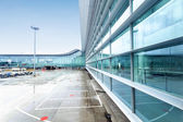 Exterior of airport building — Stock Photo