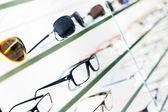 óculos exibidos — Fotografia Stock