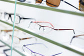 Glasses displayed — Stock Photo