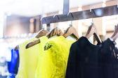 Fashion clothing rack display — Stock Photo