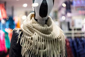 Mannequin in mall center with neckerchief — Stock Photo