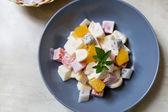 A delightful medley of fresh fruit — Stock Photo