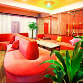 Lobby of the characteristic hotel — Stock Photo