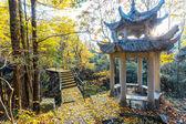 Landscape with pavilion — Stock Photo