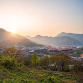 Autumn landscape of village — Stock Photo
