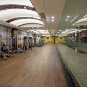 Otelin spor salonunda — Stok fotoğraf