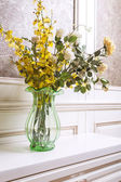 Flowers in a living room — Stock Photo
