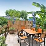 Outdoor terrace — Stock Photo