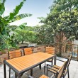 Outdoor terrace — Stock Photo