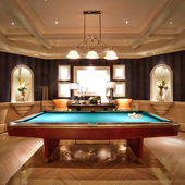 Entertainment Center and Rec Room in Luxury Home — Photo