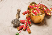 Chinese lunar new year ornament — Stock Photo