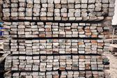 Sawn timber material — Stock Photo