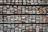 Sawn timber material — Stock Photo
