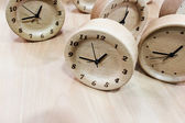 Wooden clocks — Stock Photo