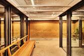 Modern style corridor interior — Stock Photo