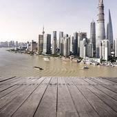 Bird's eye view of shanghai — Stock Photo