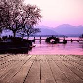 Bridge over west lake — Stock Photo