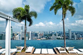 Infinity pool of Marina Bay Sands — Stock Photo