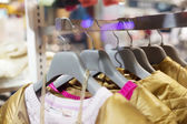 Fashion clothing rack display  — Stock Photo