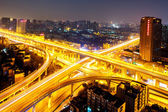 City interchange overpass at night  — Foto Stock
