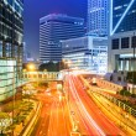 Traffic through downtown HongKong — Stock Photo #42228595