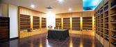 панорама современный винный магазин — Стоковое фото