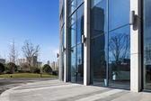 Informationen über ein modernes Bürogebäude — Stockfoto