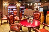 Restaurant with wine decoration — Stock Photo