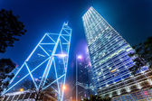Modern buildings of the city at night — Stockfoto