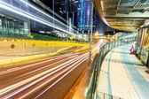 Traffic through downtown HongKong  — Stock Photo