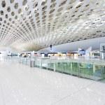 International airport building interior — Stock Photo