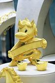 Golden horse figurine — Stock Photo