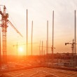 Buildings under construction with sunset — Stock Photo #46212615