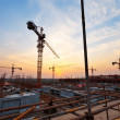 Buildings under construction with sunset — Stock Photo #46212731