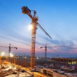 Buildings under construction with sunset — Stock Photo #46212843