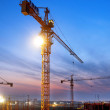 Buildings under construction with sunset — Stock Photo #46212893