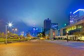 Night scene of modern city — Zdjęcie stockowe