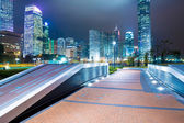 City pathway in the night  — Stock Photo