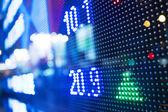 股票市场行情显示 — 图库照片