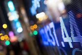 Visualización de las cotizaciones del mercado de valores — Foto de Stock