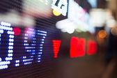 Display of Stock market quotes  — Stock Photo