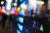 отображения котировки фондового рынка — Стоковое фото