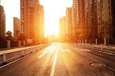 Avenue in modern city — Stock Photo